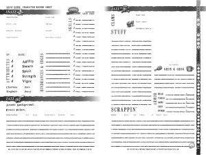 Low Life Character Sheet - Easy Print